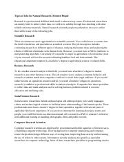 Types of Jobs for Natural Research.docx