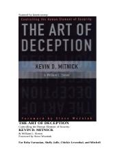 Art of Deception - Controlling the Human Element of Security - Kevin Mitnick