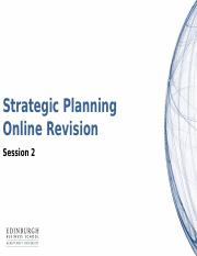 Important tables and charts on strategic planning