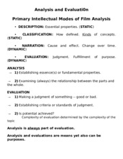 L6 Film Analysis and Evaluation JUL 21