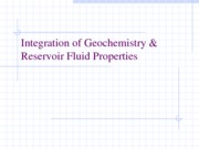ERTH 2380 Integration of Geochemistry and Reservoir Fluid properties
