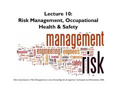 Lecture 10 Risk Management - Section 1