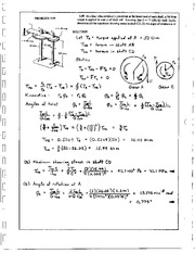 214_Mechanics Homework Mechanics of Materials Solution
