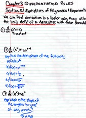 Math 140 Derivative Rule Notes
