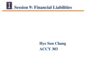 Session 9 - Class Notes - Financial liabilities (2)