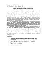 Ch11_Unequal - Equal Supervisors