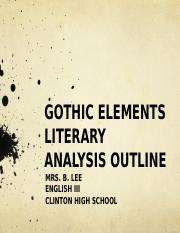 GOTHIC ELEMENTS OUTLINE TIPS