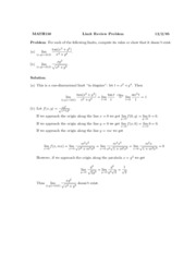 Limit Review Problem