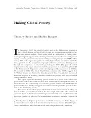 Halving Global Poverty besley and burgess(2003)