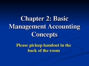 Ch 2 Basic Managerial Acctg Concepts