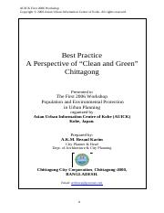 2006_CCC Perspective of Clean and Green Chittagong .pdf