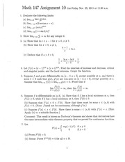 Math147Assignment10