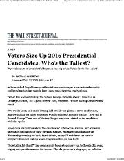 1-1 -- Voters Size Up 2016 Presidential Candidates Who is the Tallest - WSJ 2015-10-27.pdf