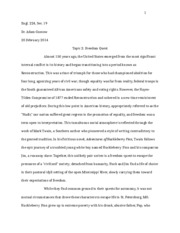 Essay 1 (Freedom Quest)