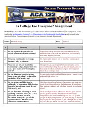 Is College For Everyone Assignment