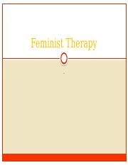 Feminist Therapy 2014.pptx