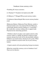 Southeast Asian currency crisis