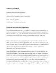 Module 6 LEADERSHIP ISSUE 2. Ethics and social responsibility (3 weeks).docx