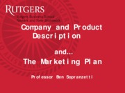 Class 5 Product Description and Marketing Plan