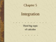 Calculus  Chapter 5 5.1,5.4
