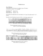 EKG Rhythm Review