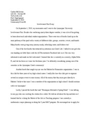Involvement Fair Essay
