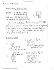 Newton's Laws and Gravity Notes