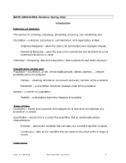 MATH 10800 Spring 2013 Course Notes Descriptive Statistics
