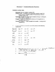 Worksheet 7 answers