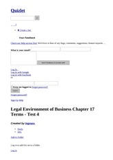 Legal Environment of Business Chapter 17 Terms