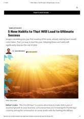 5 New Habits to That Will Lead to Ultimate Success _ Inc