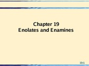 19 enolates enamines