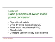 Lecture 2 Basic principles of SMPC