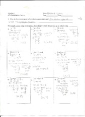 Solving for 2 Equations