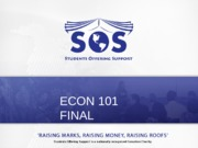 ECON 101 Final Review Slides