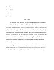 Cody Carpenter AJS 205 Week 7. essay