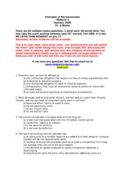 econ 513 final exam Mathematical methods of econ analysis  (10%), 1x15hr mid-semester test (30%), 1x2hr final exam (60%), pre-requisites  15 211 513 464.
