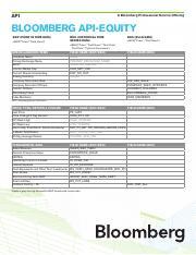 Excel_formula pdf - API A Bloomberg Professional Service Offering