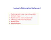 Lecture 6 - Mathematical Background