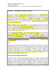 CASE STUDY_SAP_Part_II_III