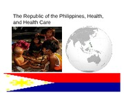 Student Project: Philippines Health Care