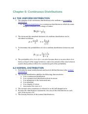 Business Statistics Reading Notes Chapters 6