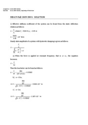 ME429 Fall 2009 HW4 Solution