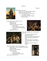 Lecture 5 notes, French Revolution Paintings and Prints