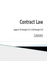 Contract Law leases