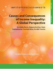 Causes and Consequences of Income Inequality--A Global Perspective