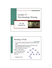 Tree Inserting & Erasing