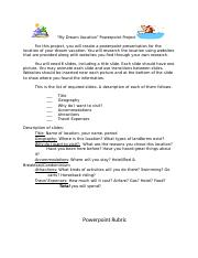 dream vacation project sheet and rubric.docx