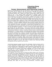 Career Assessment and Planning Project.docx