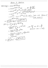 Exam 1 Solution Fall 2014 on Quantum Mechanics
